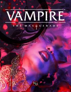 Kuvassa V5 kirjan kansi tekstillä Vampire the masquerade