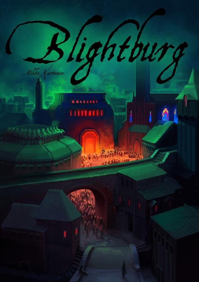 Kuvassa Blightburgin kansi