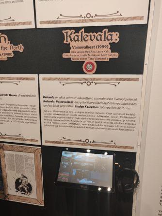 Vainovalkeat-larp oli hyvin näkyvillä näyttelyssä, ja vanhoja uutisklippejä pääsi katsomaan ja kuulemaan myös. Kuva: Vera Schneider