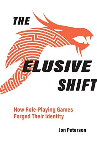 The Elusive Shift -kirjan kansi, jossa on tekstiä ja lohikäärmeen pää